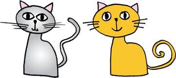 chats peu illustration stock