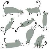 Chats réglés illustration stock