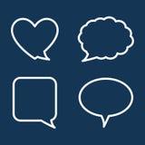 Chatspracheblasen Stockbilder