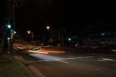 Chatswood-Nachtfahrt lizenzfreies stockbild