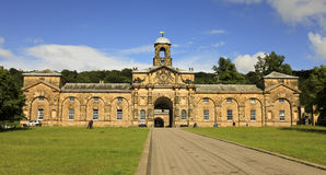 Chatsworth之家,英国视图  免版税库存图片