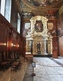 Chatsworth教堂,英国视图  免版税库存照片