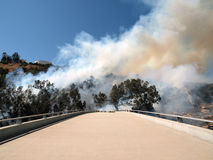 Chatsworth - Brush Fire on 118 Fwy Royalty Free Stock Photography