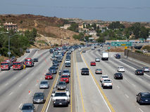 Chatsworth Freeway Closure Stock Photo