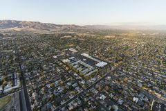 Chatsworth Homes and Streets Aerial in Los Angeles California royalty free stock image