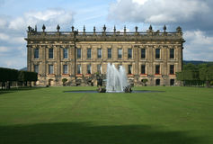Chatsworth house. View of chatsworth house from the gardens Stock Photo