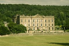 Chatsworth House. Evening of Chatswoth House at the edge of the Pennines in England Stock Photo