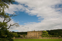 Chatsworth house and big sky Royalty Free Stock Image