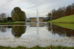 Chatsworth House Canal Lake Stock Images