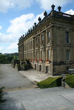 Chatsworth house close up. Side view of chatsworth house from the gardens Royalty Free Stock Photo