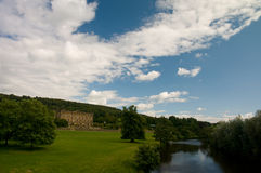 Chatsworth house and gardens Stock Photo