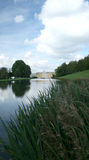 Chatsworth house from lake Royalty Free Stock Photo