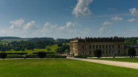 Chatsworth House in the Peak District of Derbyshire Royalty Free Stock Image