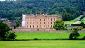 Chatsworth House. Photo taken at Chatsworth House in UK. Amazing old castle. Tourist attraction Royalty Free Stock Image