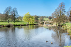 Chatsworth House riverside Stock Image
