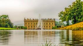 Chatsworth hus royaltyfria foton