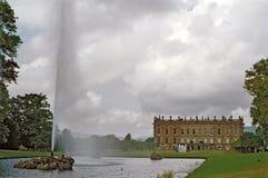 Chatsworth hus royaltyfria bilder