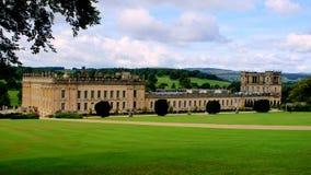 Chatsworth trädgårdsikt royaltyfri fotografi