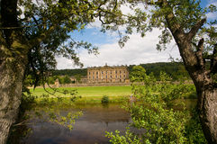 Chatsworth through the trees Stock Photos