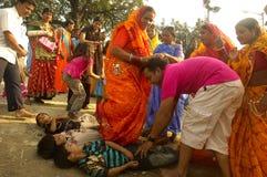 Chatt Festival In India. Royalty Free Stock Photo
