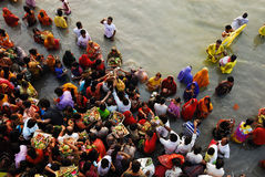 Chatt Festival in India Stock Photos