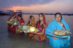 Chatt Festival in India Royalty Free Stock Photos