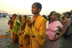 Chatt Festival in India Stock Photo