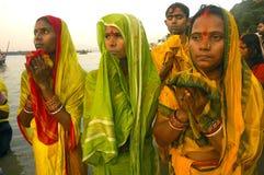 Chatt Festival in Indien. Stockfotos