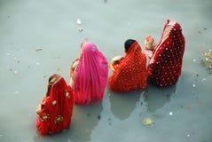 Chatt Festival in Indien Stockfotos