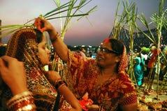 Chatt Festival in Indien Lizenzfreies Stockfoto