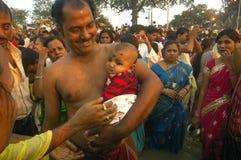 Chatt Festival in Indien Stockfotografie