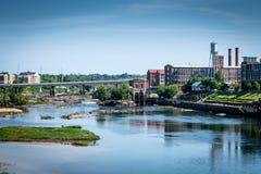 Chattahoochee Riverwalk em Columbo, GA imagens de stock
