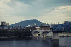Chattanooga with bridge and architecture Royalty Free Stock Image