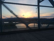 Chattanooga Bridge at Sunset Royalty Free Stock Image