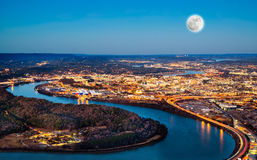 Chattanooga downtown at night Stock Photography