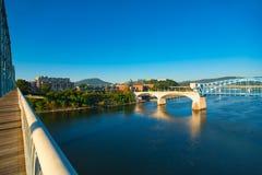 Chattanooga-Flussansicht Lizenzfreie Stockbilder