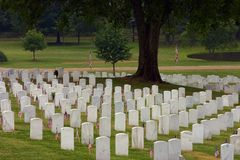 Chattanooga National Cemetery. On Memorial day stock photography