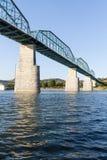 Chattanooga orzecha włoskiego ulicy rzeczny most zdjęcie royalty free