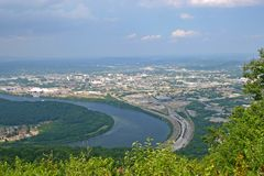 Chattanooga From Point Park Royalty Free Stock Photos