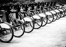 Chattanooga Rental bicycles Royalty Free Stock Photos