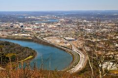 Chattanooga and river Royalty Free Stock Photography