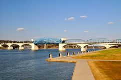 Chattanooga Riverfront Bridge Royalty Free Stock Photography