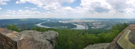 Chattanooga, Tennessee. River scene Riverbend from Lookout Mountain, site of a Civil War battle Stock Image