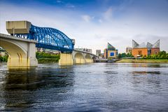 Chattanooga, Tennessee, USA. City skyline royalty free stock photos