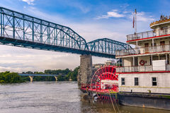 Chattanooga, Tennessee, USA. Riverfront and steamboat royalty free stock image