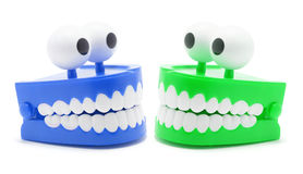 Chattering Teeth Toy. On White Background Royalty Free Stock Image