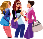 Chattering women vector illustration