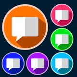 chatting διανυσματική απεικόνιση