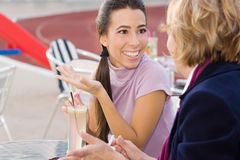 Chatting in Cafe Royalty Free Stock Photography