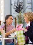 Chatting in Cafe Royalty Free Stock Image